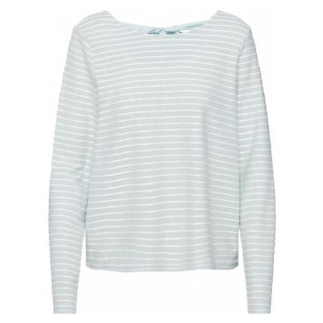 ONLY Sweter 'ONLELLY STRIPE TOP' zielony / biały