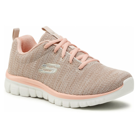 Buty SKECHERS - Twisted Fortune 12614/NTCL Natural/Coral