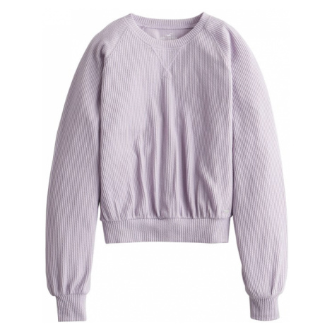 HOLLISTER Sweter 'LS EASY WAFFLE OPEN BACK 4CC' fioletowy