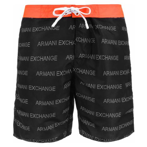 Armani Exchange Strój kąpielowy Czarny