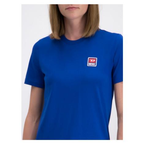 Diesel T-Shirt T-Sily-ZE 00S2NQ0PATI Niebieski Regular Fit