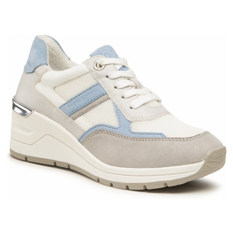 Sneakersy MARCO TOZZI - 2-23778-26 Lt. Grey Comb 248