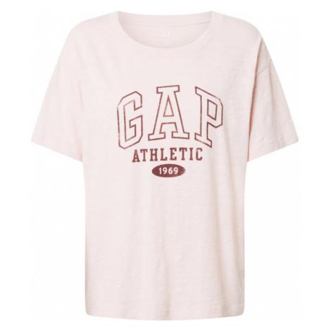 GAP Koszulka 'Easy Athletic' różowy / rdzawobrązowy