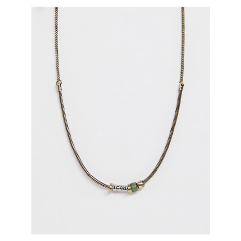 Icon Brand bead neck chain in gold