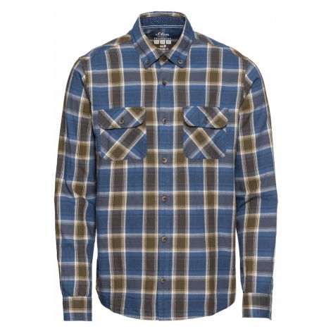 S.Oliver Koszula ciemny niebieski / khaki