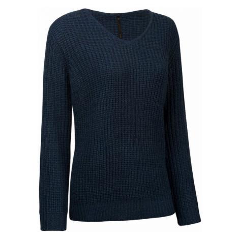 Damski Sweter Długo Pleciony | Granatowy Fluctus Libertatem Woox