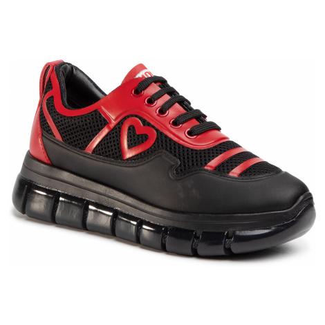 Sneakersy LOVE MOSCHINO - JA15225G0AJS100B Nero/Vit. Rosso