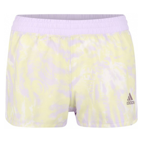 ADIDAS PERFORMANCE Spodnie sportowe pastelowy fiolet / pastelowo-żółty / biały
