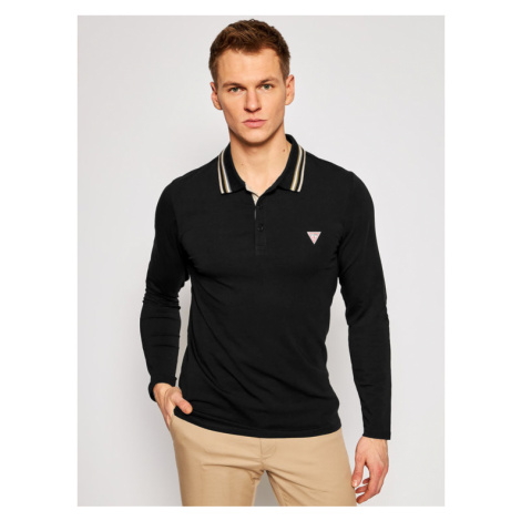 Guess Polo M1RP36 J1311 Czarny Extra Slim Fit