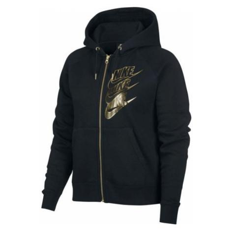 Nike NSW HOODIE FZ BB SHINE W czarny M - Bluza damska