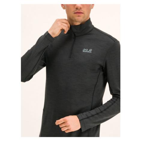 Jack Wolfskin Koszulka techniczna Arctic TX Half Zip 1806271-6000 Czarny Slim Fit