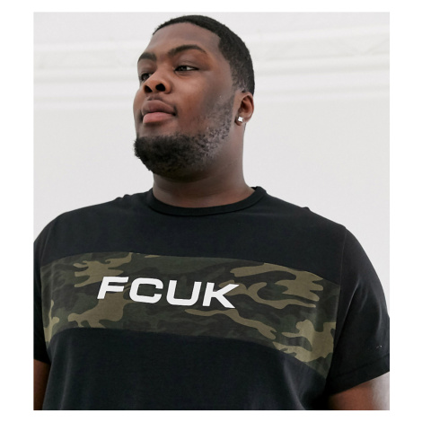 French Connection Plus FCUK logo t-shirt