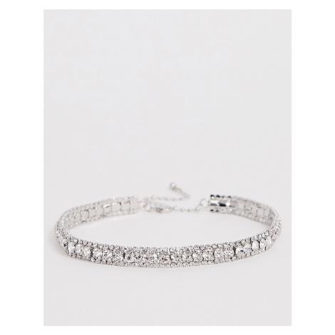 True Decadence rhinestone crystal silver necklace