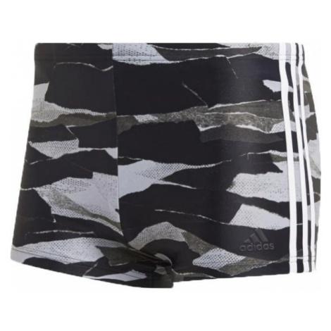 adidas FITNESS 3-STRIPES GRAPHIC SWIM BOXER - Szorty kąpielowe męskie