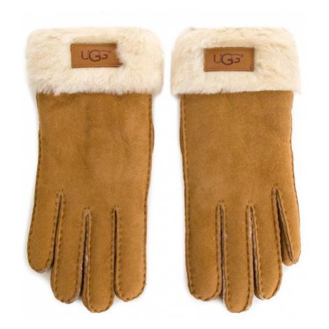 Ugg Rękawiczki Damskie W Turn Cuff Glove 17369 Brązowy