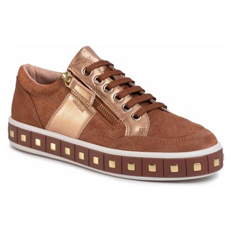 Sneakersy GEOX - D Leelu'e D94FFE 022NF C6NB6 Cognac/Lt Bronze