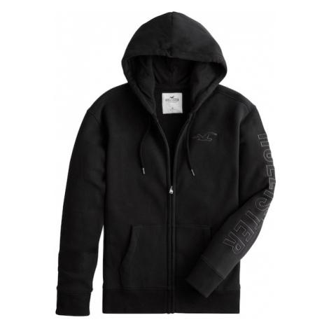 HOLLISTER Bluza rozpinana czarny / biały