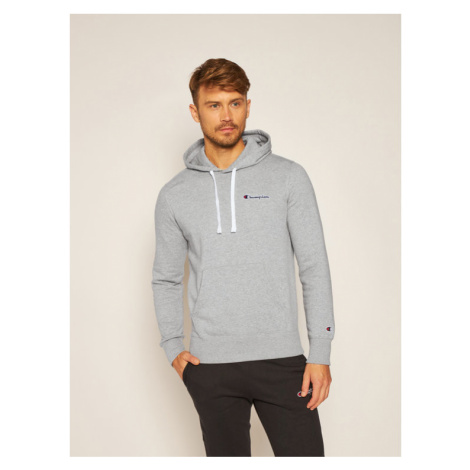 Champion Bluza Small Script Logo Fleece 214780 Szary Comfort Fit
