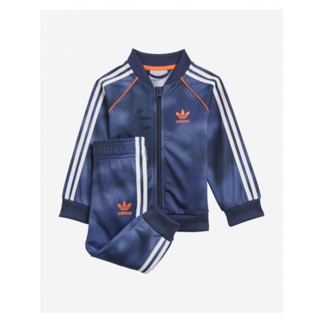 adidas Originals All-Over Print Dresowy zestaw dziecięcy Niebieski