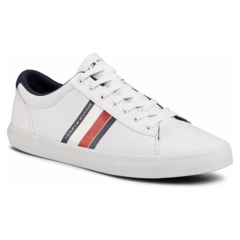 Tenisówki TOMMY HILFIGER - Essential Stripes Detail Sneaker FM0FM02685 White YBS