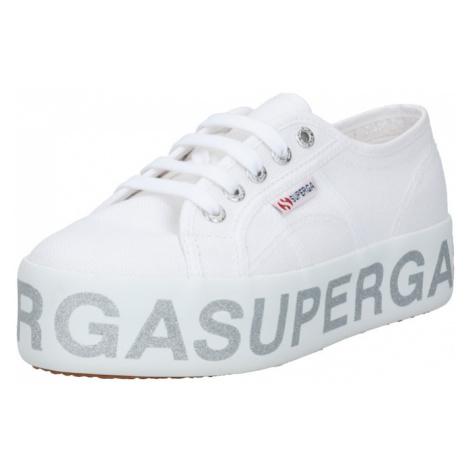 SUPERGA Trampki niskie biały / srebrny