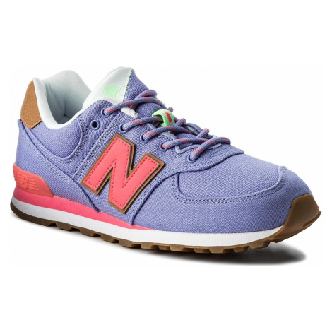 Sneakersy NEW BALANCE - GC574T4 Fioletowy