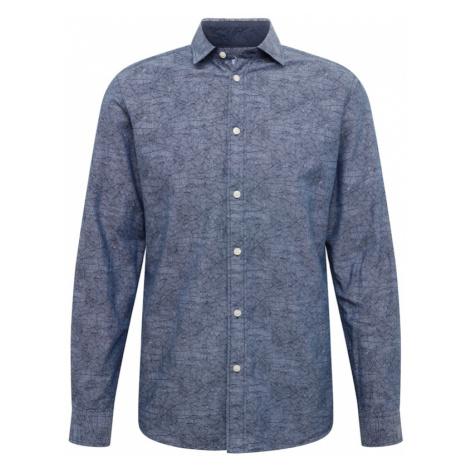 SELECTED HOMME Koszula biznesowa ciemny niebieski / szary