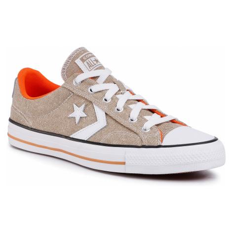 Tenisówki CONVERSE - Star Player Ox 167670C Khaki/White/Bold Mandarin