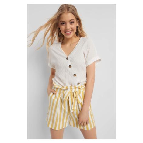 Bombkowa bluzka z guzikami Orsay