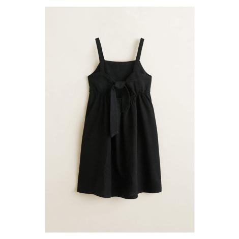 Mango Kids - Sukienka dziecięca Linen 116-164 cm