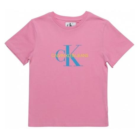 Calvin Klein Jeans Koszulka 'MONOGRAM OCO REGULAR TEE' różowy