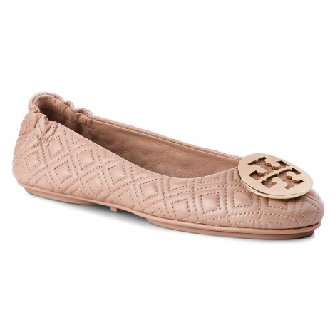 Baleriny TORY BURCH - Quilted Minnie 50736 Goan Sand/Gold 250