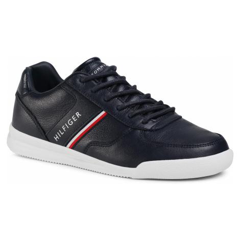 Sneakersy TOMMY HILFIGER - Lightweight Leather Mix Sneaker FM0FM02988 Desert Sky DW5