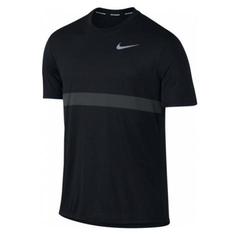 Nike RELAY TOP SS czarny M - Koszulka do biegania męska