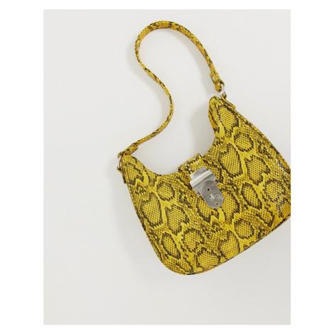 ASOS DESIGN 90s snake bag with western detail