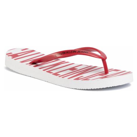 Japonki CALVIN KLEIN JEANS - Daralyn B4R0902 White/Racing Red