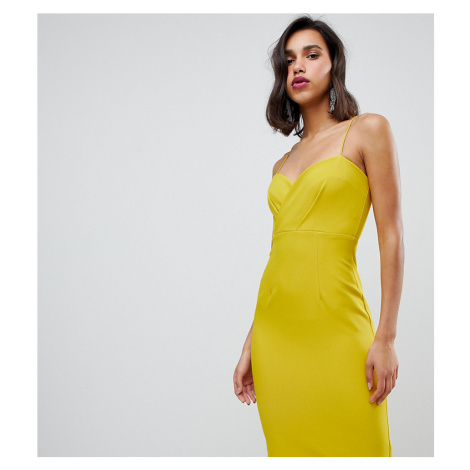 River Island bodycon midi dress in chartreuse