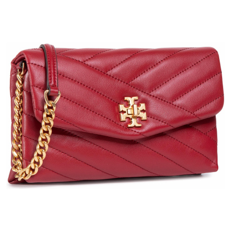 Torebka TORY BURCH - Kira Chevron Chain Wallet 64068 Redstone/Rolled Brass 633