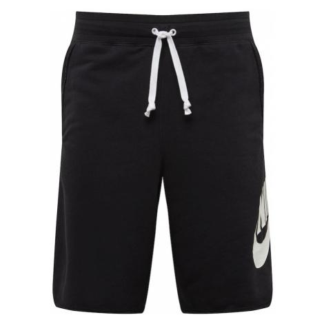 Nike Sportswear Spodnie 'NSW Alumni' czarny / biały