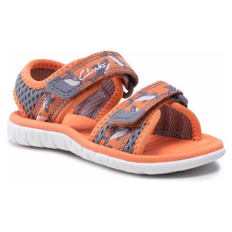 Sandały CLARKS - Surfing Tide T 261563507 Orange Textile