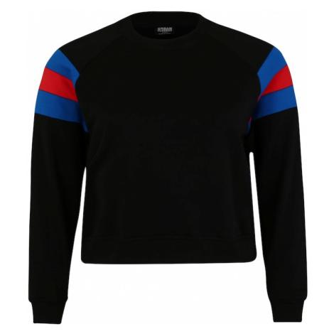 Urban Classics Bluzka sportowa czarny / niebieski / czerwony