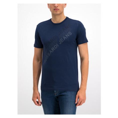 Trussardi Jeans T-Shirt 52T00273 Granatowy Regular Fit