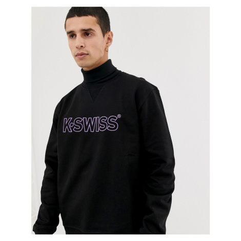 K-Swiss LA Sweatshirt with large logo in black