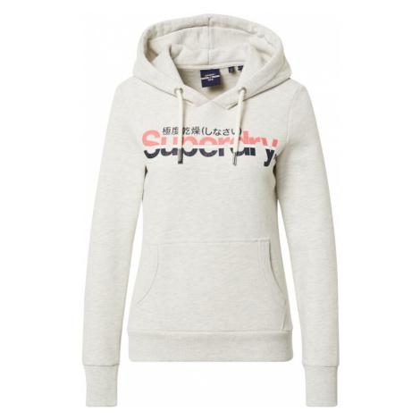 Superdry Bluzka sportowa biały / atramentowy / różowy