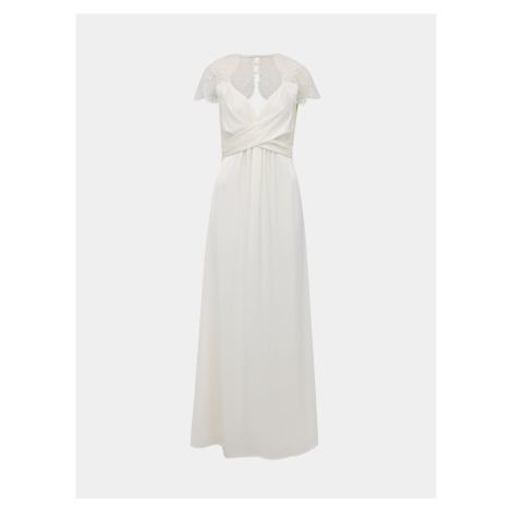 Biała sukienka maxi z koronką VILA Shea