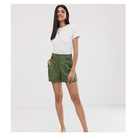 Y.A.S Tall button detail shorts