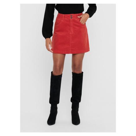 Jacqueline de Yong czerwona damska spódnica mini