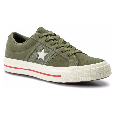 Tenisówki CONVERSE - One Star Ox 163198C Field Surplus/Enamel Red/Egret