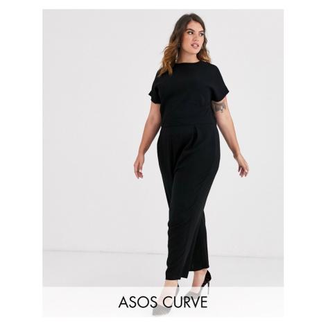 ASOS DESIGN Curve pleated bodice jumpsuit