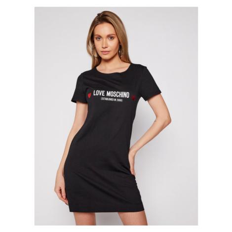 LOVE MOSCHINO Sukienka codzienna W592913M 3876 Czarny Regular Fit